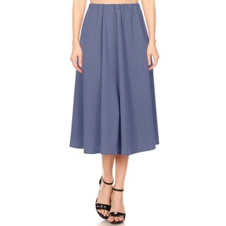 Link to Women's A-Line Pleated High Waist Solid Midi Ruffled Skirt Similar Items in Skirts