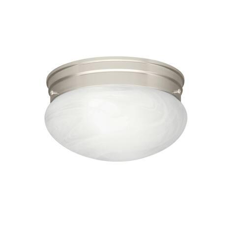 Kichler Lighting Ceiling Space 1-Light Flush Mount Brushed Nickel