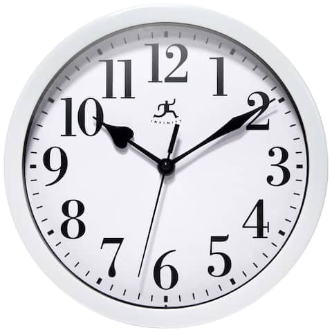 White Plastic 10 inch Simple Office Wall Clock