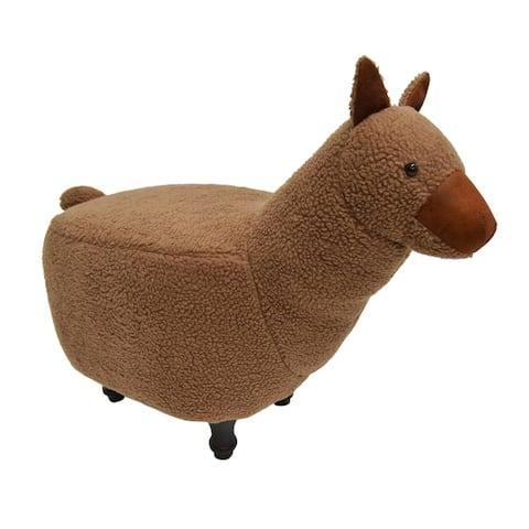 Kids Upholstered Alpaca Ottoman