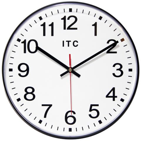 Prosaic 12 inch Professional Office Warehouse Black Wall Clock
