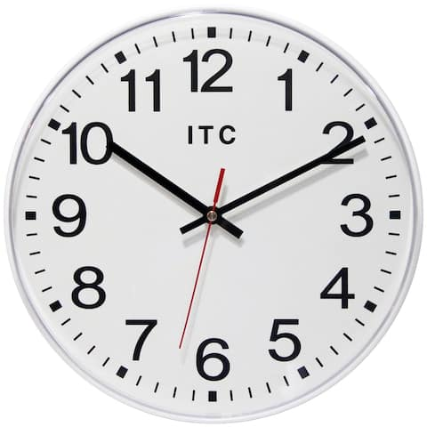 Prosaic Professional 12 inch Office Warehouse White Wall Clock