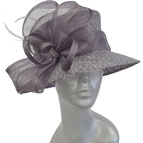 Straw band loops and a few feathers Designer Couture Sinamay Hat