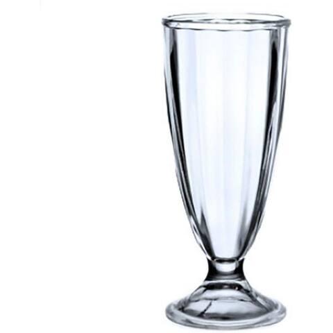 Retro Vintage Soda Fountain Design Milk Shake Ice Cream Soda Malted Smoothie Parfait Iced Tea Glasses 12 oz - SET OF 6