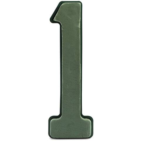 """11in Number 1 Wet Floral Flower Foam Base for Crafts Fresh Flowers Decorations - Green - 11"""""""