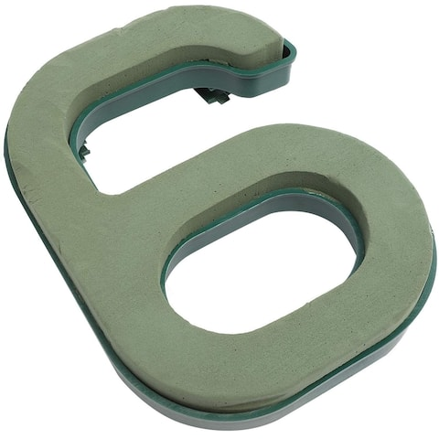 """10.5in Number 6 Wet Floral Flower Foam Base for Crafts Fresh Flowers Decorations - Green - 10.5"""""""