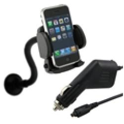 Eforcity Universal Windshield Mount with Car Charger for Palm Centro