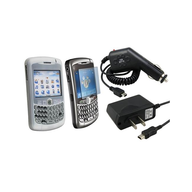 Eforcity Clear Skin/ Protector/ Car/ AC Charger for Blackberry 8300
