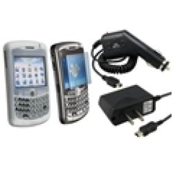 Eforcity Clear Skin/ Protector/ Car/ AC Charger for Blackberry 8300 - Thumbnail 1