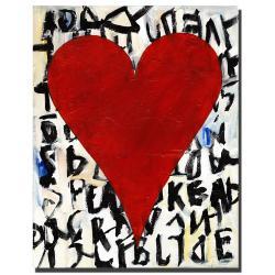 Michael Zayn 'Heart of Love, Thalia' Gallery-wrapped Canvas Art - Thumbnail 2
