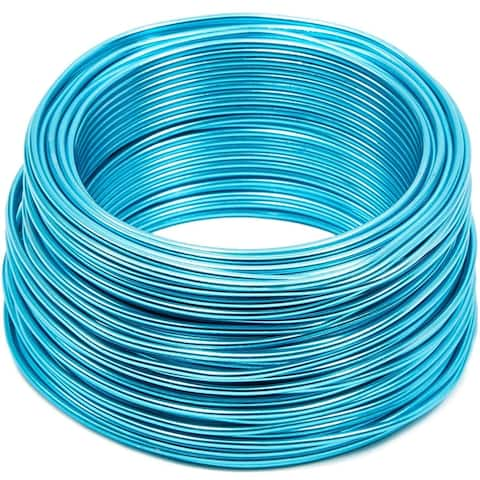 101 Feet 12 Gauge Aluminum Wire for DIY Art & Crafts Jewelry Making, Sky Blue