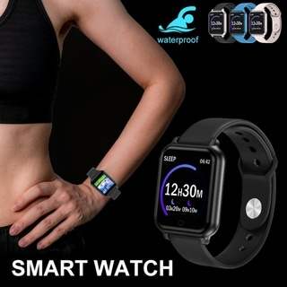 Link to Fitness Tracker Bluetooth Smart Watch Sport Wristband IP67 Waterproof Heart Rate Blood Pressure Monitor for IOS Android Similar Items in Cell Phone Accessories