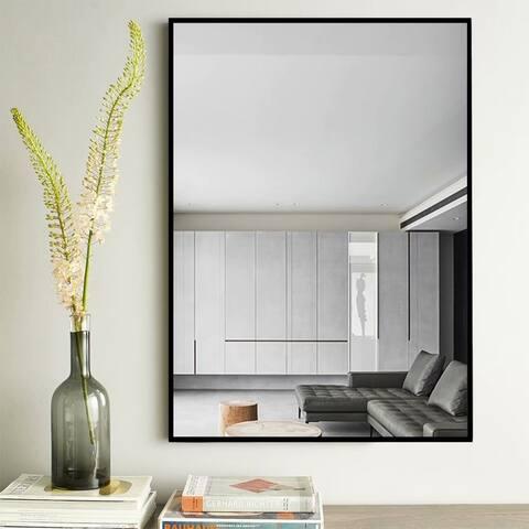 Modern Thin Frame Wall-Mounted Hanging Bathroom Vanity Mirror