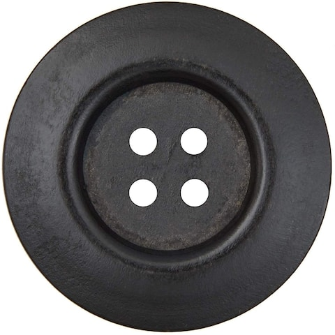 30x Pearwood Buttons with 4 Holes for Crafts, Sewing, Scrapbooking, Black 2.4 in - 30 Pack