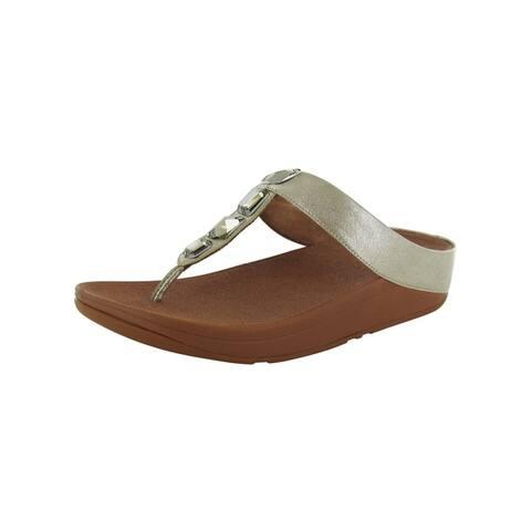 Fitflop Womens Roka Toe Thong Leather Sandal Shoes