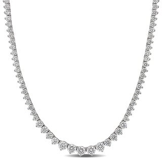 Link to 27ct TW Cubic Zirconia Vintage Tennis Necklace in Sterling Silver by Miadora - 18 in x 5.5 mm x 4 mm - 18 in x 5.5 mm x 4 mm Similar Items in Necklaces