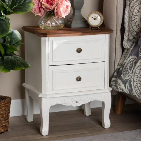 Gracewood Hollow Benjam Traditional French 2-drawer Nightstand
