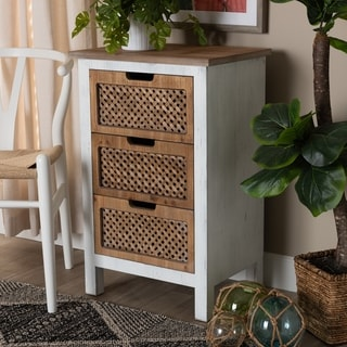 The Curated Nomad Portofino Rustic Shabby Chic 3-drawer Storage Chest