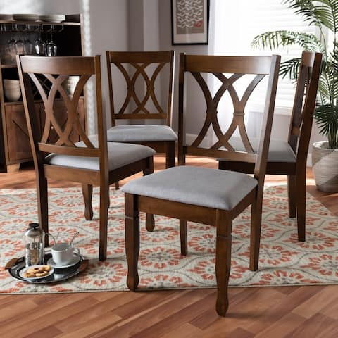 Copper Grove Nelson Armless Cushioned Dining Chairs (Set of 4)
