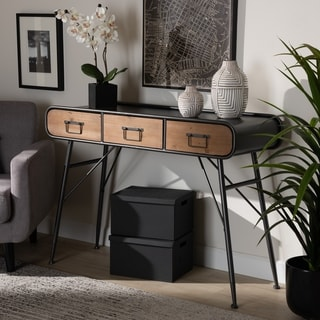 Carbon Loft Billah Modern and Contemporary Industrial 3-drawer Console Table