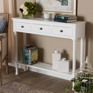 Link to Copper Grove Albertown 3-drawer Console Table Similar Items in Living Room Furniture