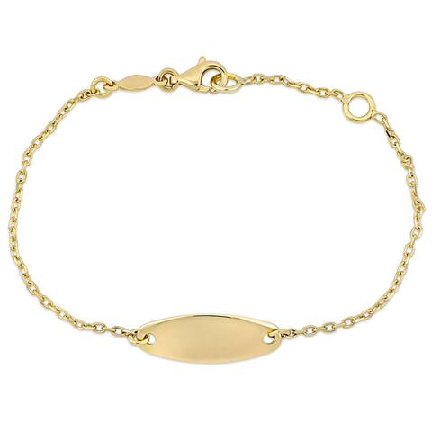Miadora 18k Yellow Gold ID Bar Chain Bracelet