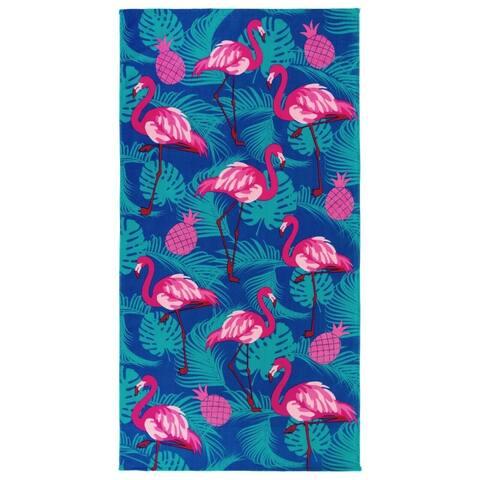 Kaufman Flamingo Beach Towels and Pool Towel - 30x60