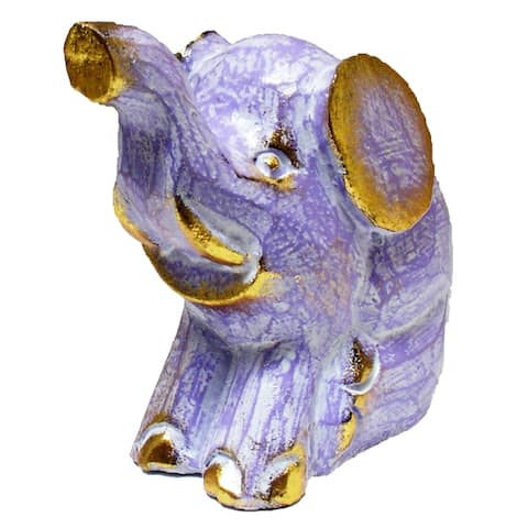 Colorful Sitting Elephant Statue