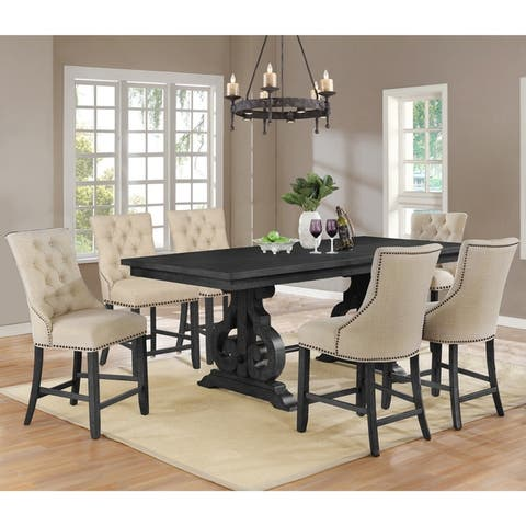 Best Quality Furniture Counter Height Dining Sets with Tufted Backrest Upholstered Counter Height Chairs