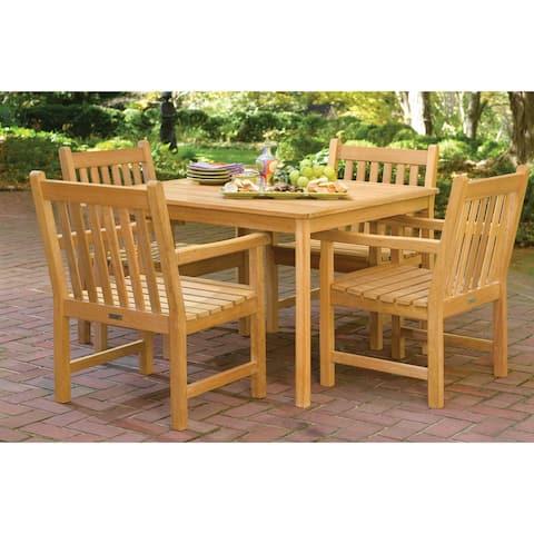 Oxford Garden Classic 5-Piece Natural Dining Set