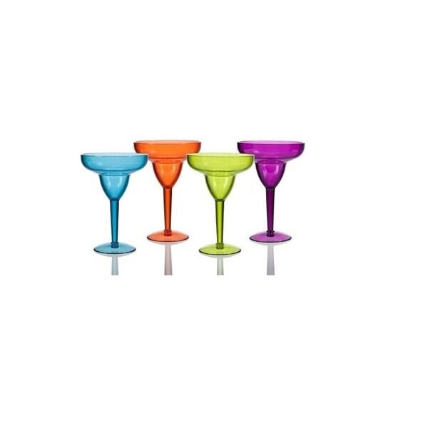 Creative Ware Acrylic Set of 4 Margarita Glasses - Set of 4