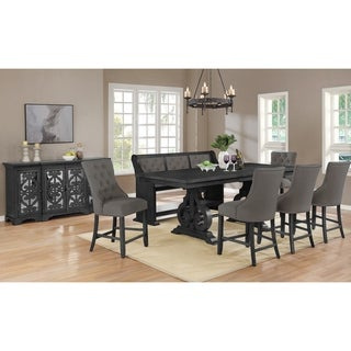 Link to Best Quality Furniture Counter Height Dining Sets with Tufted Backrest Upholstered Counter Height Chairs, Bench, and Server Similar Items in Dining Room & Bar Furniture