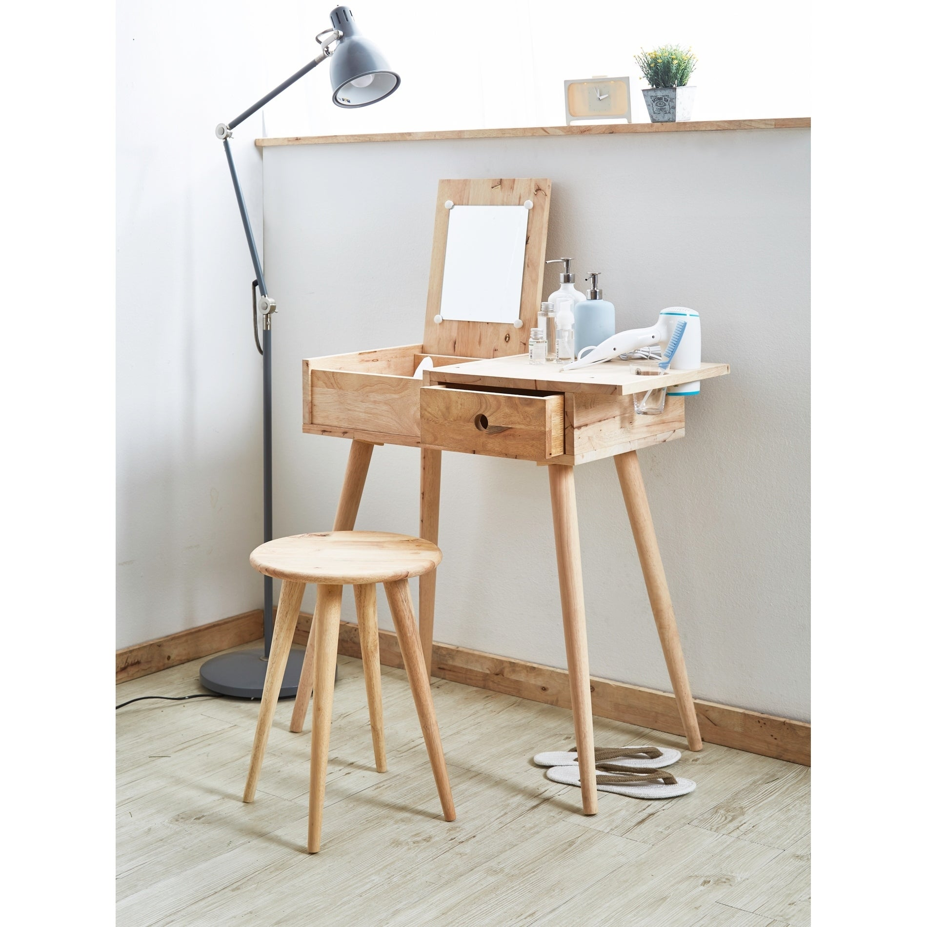 45 In Mid Century Modern Vanity Desk Set On Sale Overstock 31009894
