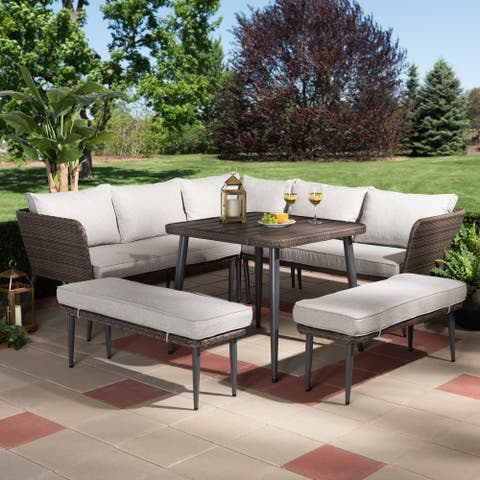 Lembah Modern 5-piece Cushioned Outdoor Patio Set by Havenside Home