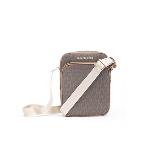 Michael Kors Women's Jet Set Travel Medium Flight Bag Crossbody Bag Brown, 35H9GTVC1B