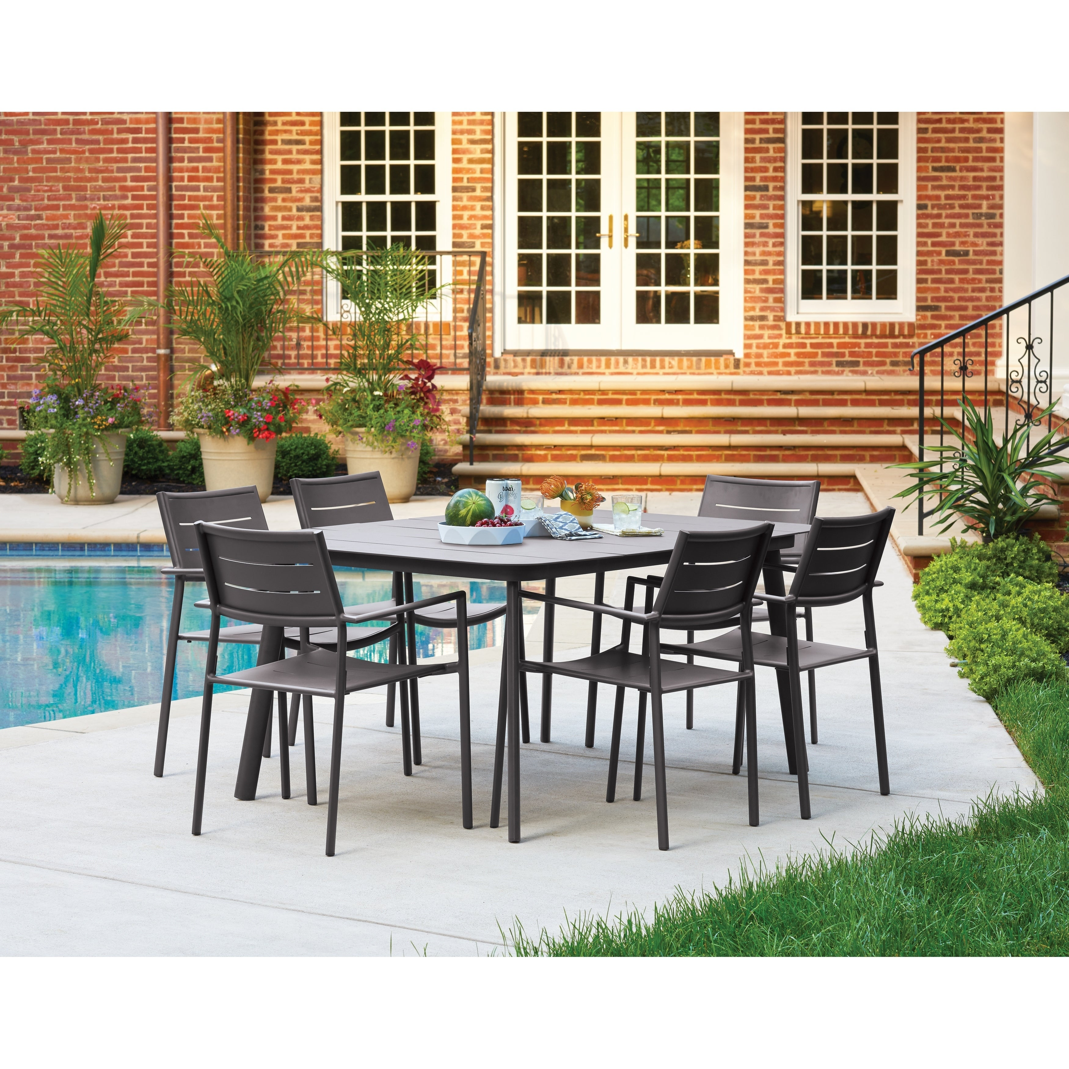 Shop For Oxford Garden Eiland 7 Piece Carbon Dining Table Set Get Free Delivery On Everything At Overstock Your Online Garden Patio Shop Get 5 In Rewards With Club O 31011044
