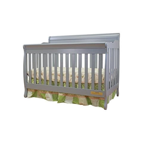 Mikaila 3-in-1 Loren Convertible Crib Grey