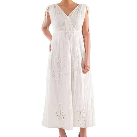 100% Cotton Voile Dress - Women's Plus Size Dresses - Summer Dress - La Mouette Collection