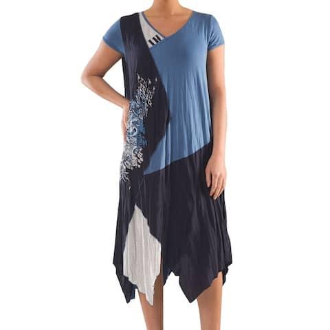 Colorblock Knit Dress - Women's Plus Size Dresses - Summer Dress - La Mouette Collection
