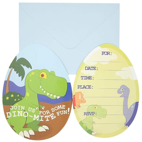 36x Colorful Dinosaur Invitation Envelopes for RSVP Birthday Party, 5 x 7 inch - 36 Pack