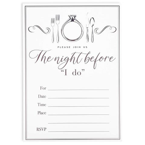 36 Pack Wedding Rehearsal Party Invitation with Envelopes, 5 x 7 inches White Invitation Cards for RSVP, Engagement Party