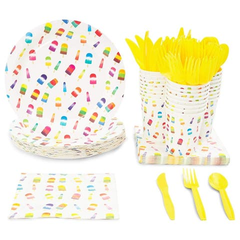 Serves 24 Popsicle Birthday Summer Party Party Supplies Decorations for Kids