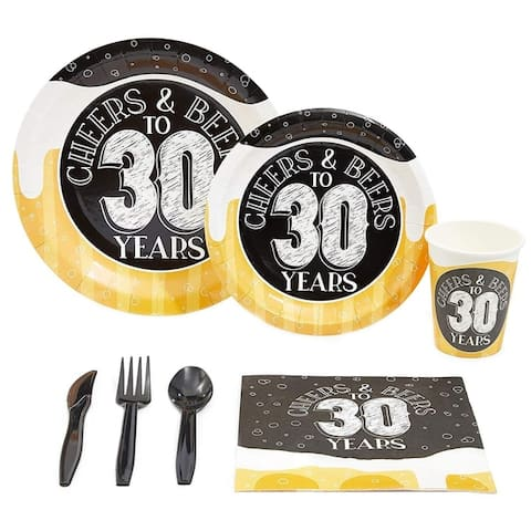 Serves 24 Cheers & Beers to 30 Years Party Supplies Decorations for Men Women