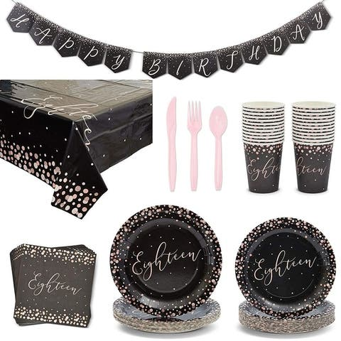 Serves 24 18th Birthday Party Supplies Decorations for Boys Girls