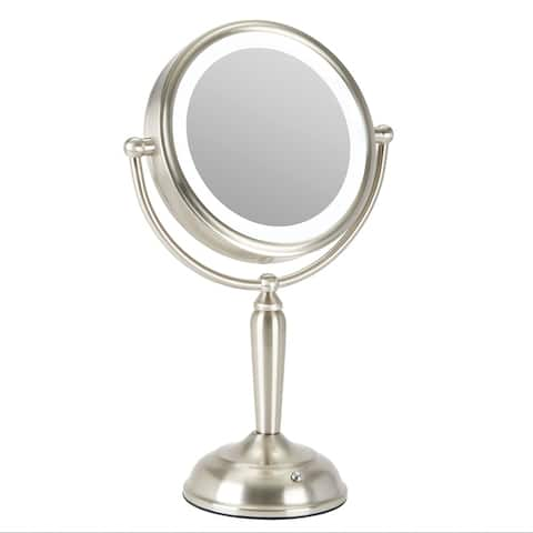 CO-Z 1x/8x Double Sided Dimmable LED Lighted Manifying Vanity Makeup/Shaving Mirror