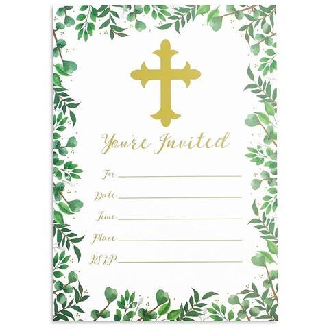36x Religious Celebration Invitation Envelopes for RSVP Party, White, 5 x 7 inch - 36 Pack