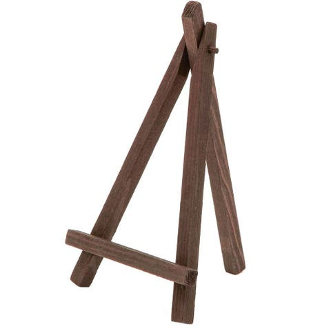 """12x Dark Wood Mini Easels Place Card Holder for Small Picture Decoration 6.25"""""""