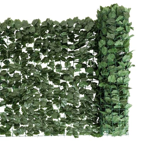 59 x95 Inch Garden Artificial Fencing Faux Ivy Leaves Privacy Fence