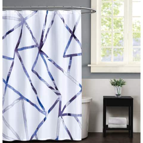 Vince Camuto Obelis Metalic Shower Curtain