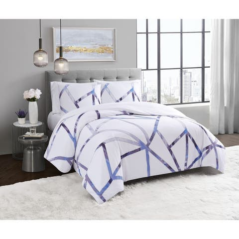 Vince Camuto Obelis Metallic 3 Piece Comforter Set
